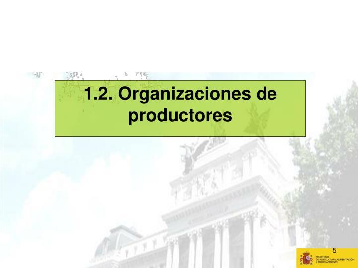 1.2. Organizaciones de productores