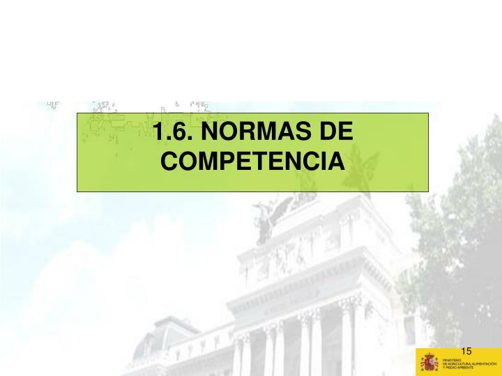 1.6. NORMAS DE COMPETENCIA