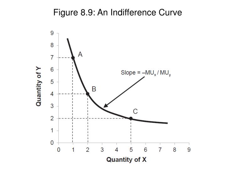 Figure 8.9: An Indifference Curve