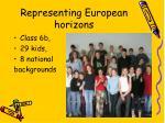 representing european horizons
