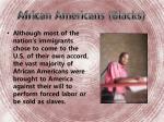 african americans blacks