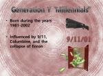 generation y millennials