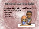 individual learning styles