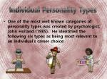 individual personality types
