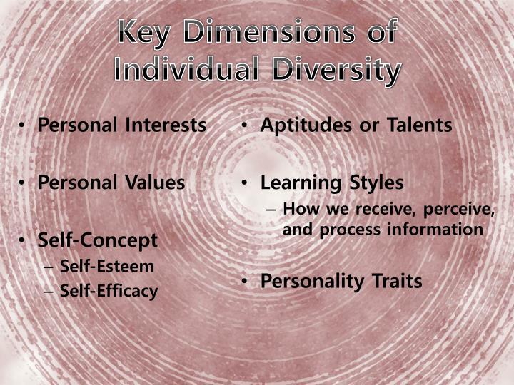 Key Dimensions of                Individual Diversity