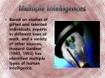 multiple intelligences