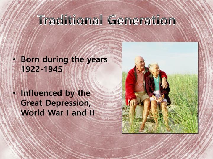 Traditional Generation