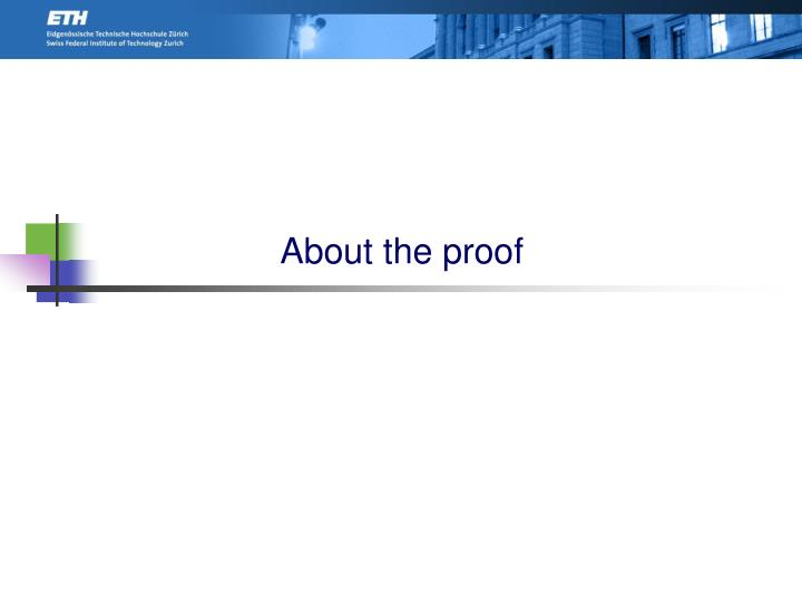 About the proof