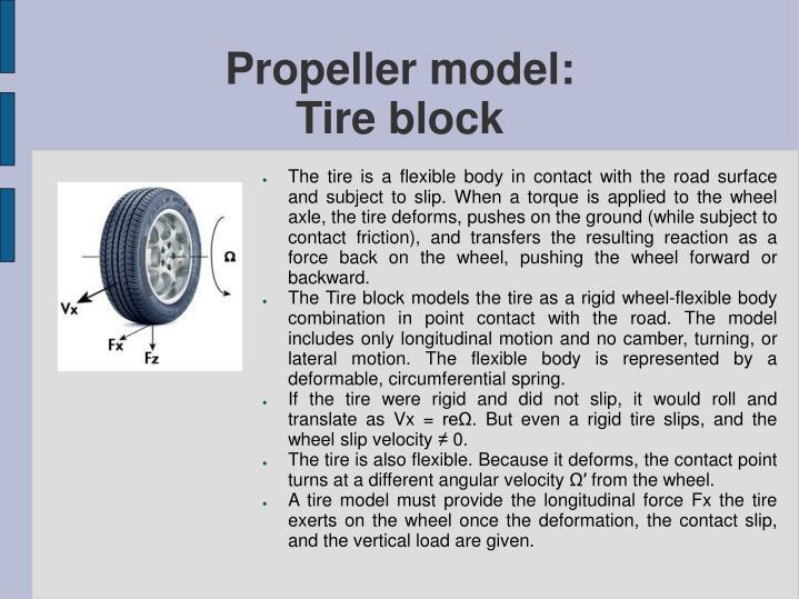 Propeller model: