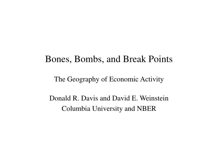 Bones bombs and break points the geography of economic activity