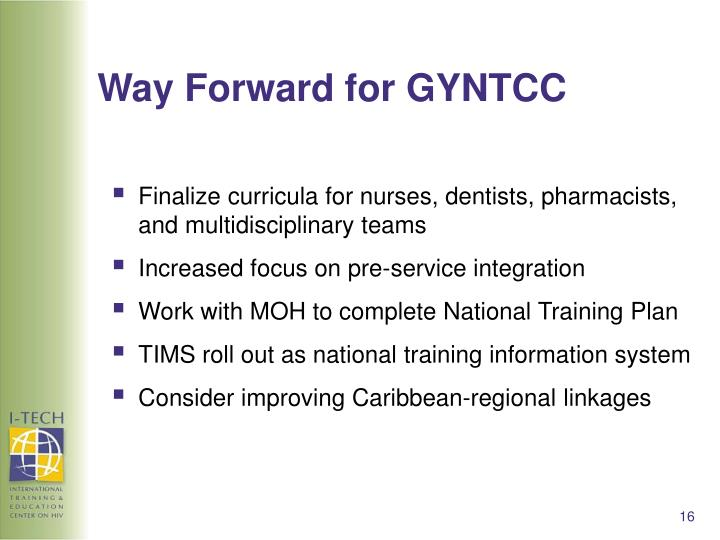 Way Forward for GYNTCC