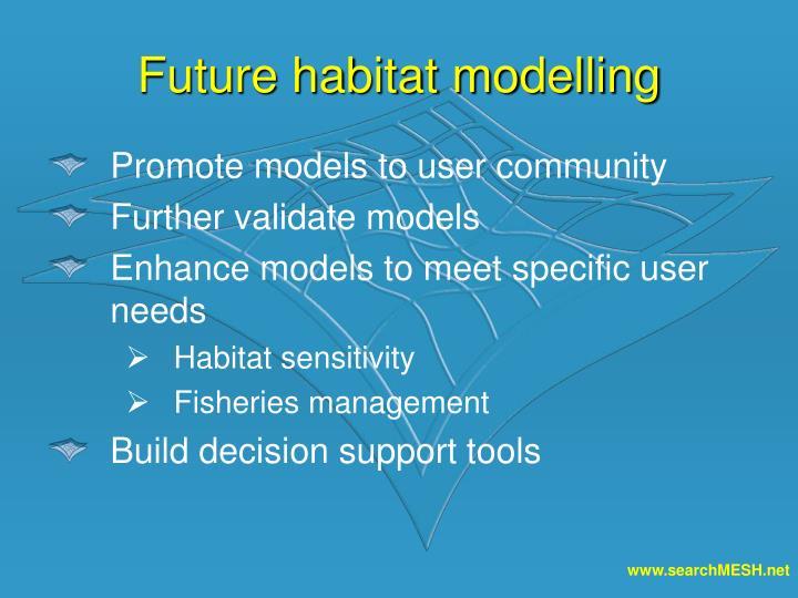 Future habitat modelling