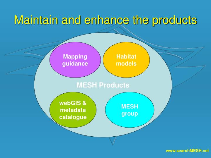 Maintain and enhance the products