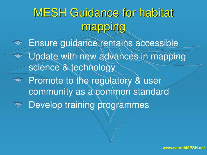 MESH Guidance for habitat mapping