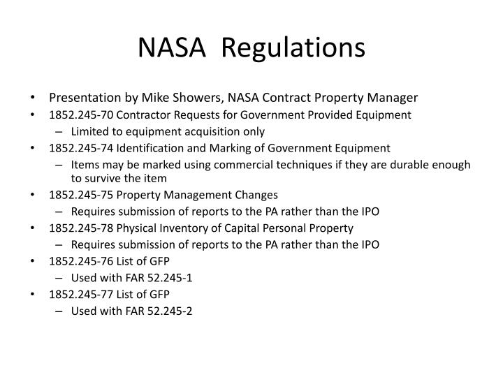 NASA  Regulations