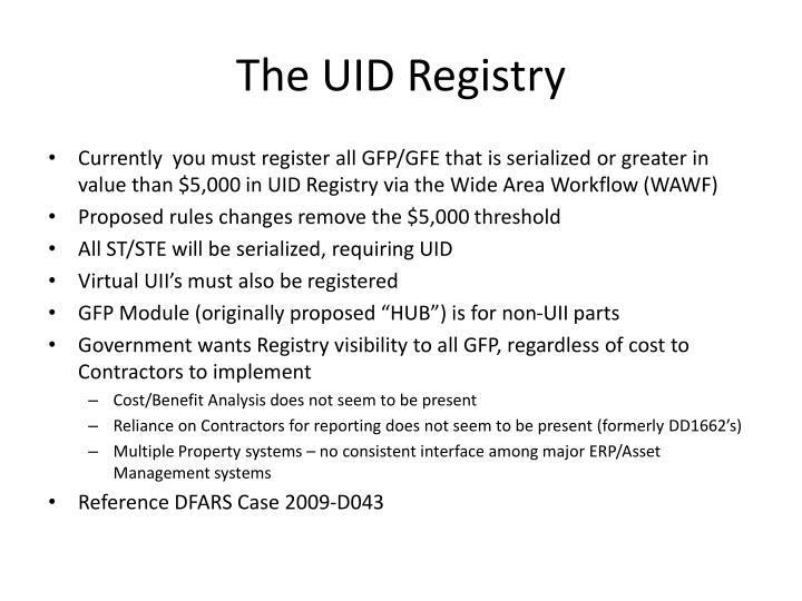 The UID Registry