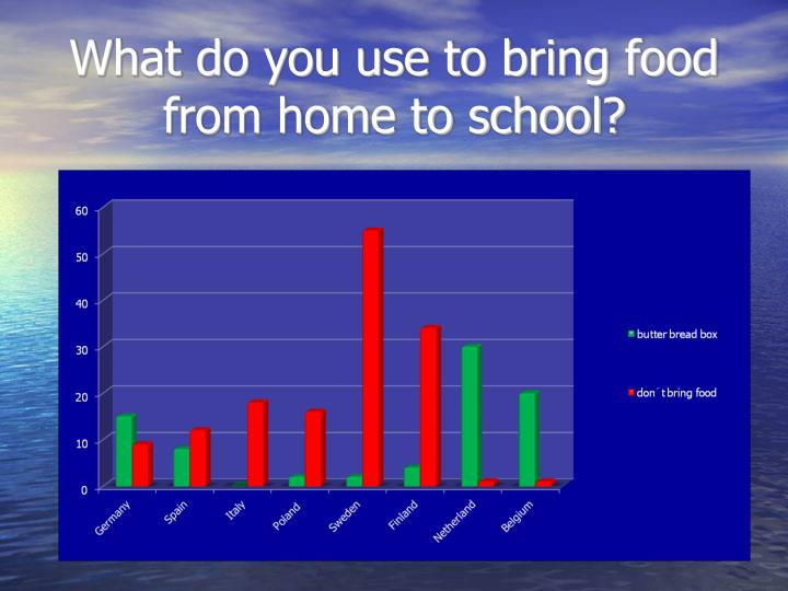 What do you use to bring food from home to school?