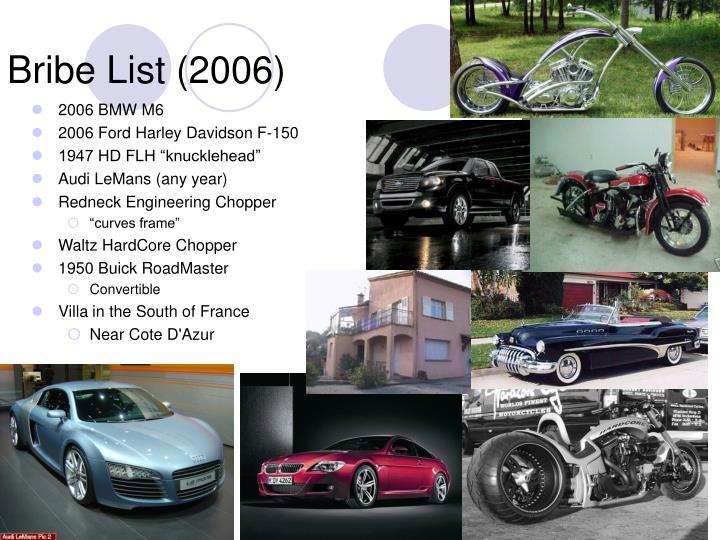 Bribe List (2006)