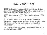 history fao in gef