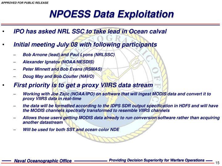 NPOESS Data Exploitation