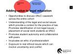 adding value to legal education