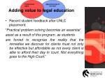adding value to legal education1