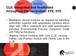 cle integrated and scaffolded throughout the curriculum 4ye 5ye2
