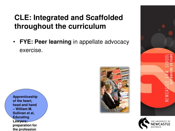 CLE: Integrated and Scaffolded throughout the curriculum