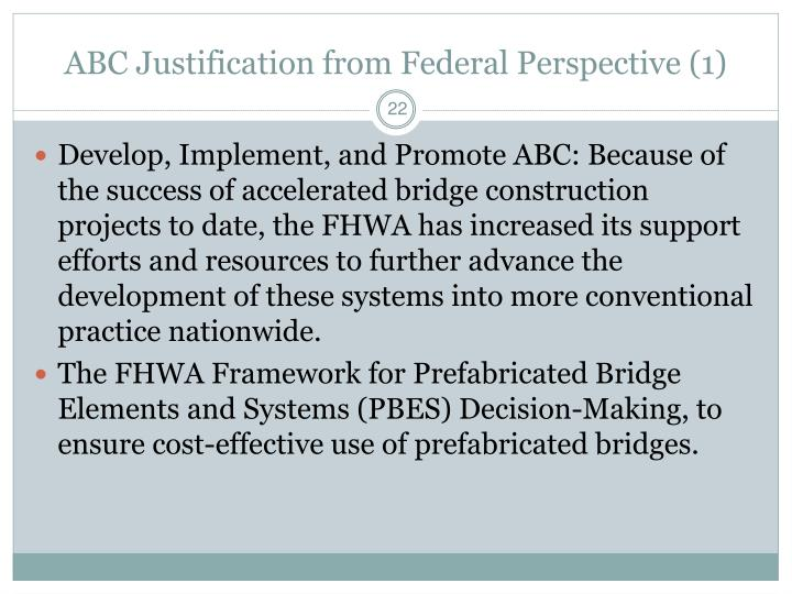 ABC Justification from Federal Perspective (1)
