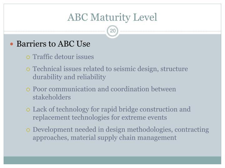 ABC Maturity Level