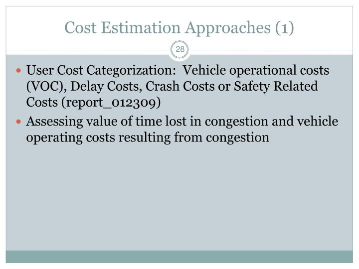 Cost Estimation Approaches (1)