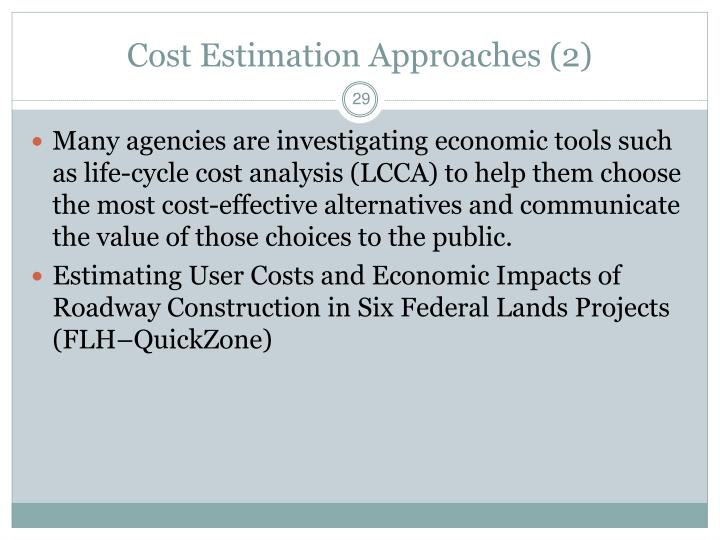 Cost Estimation Approaches (2)