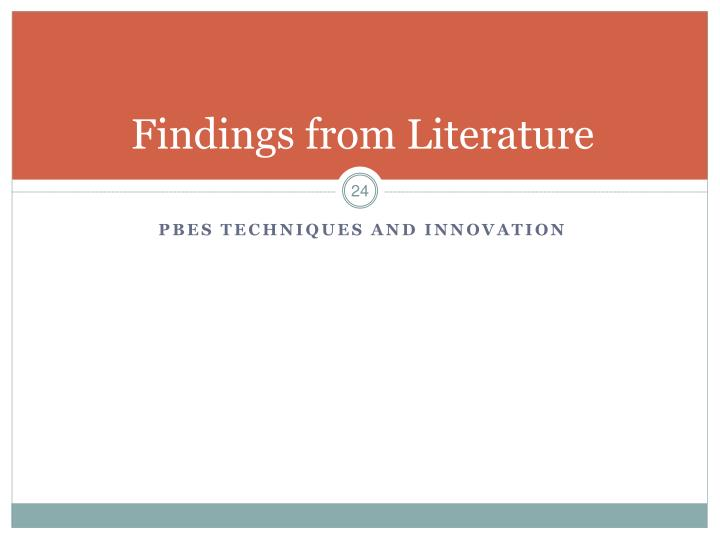 Findings from Literature