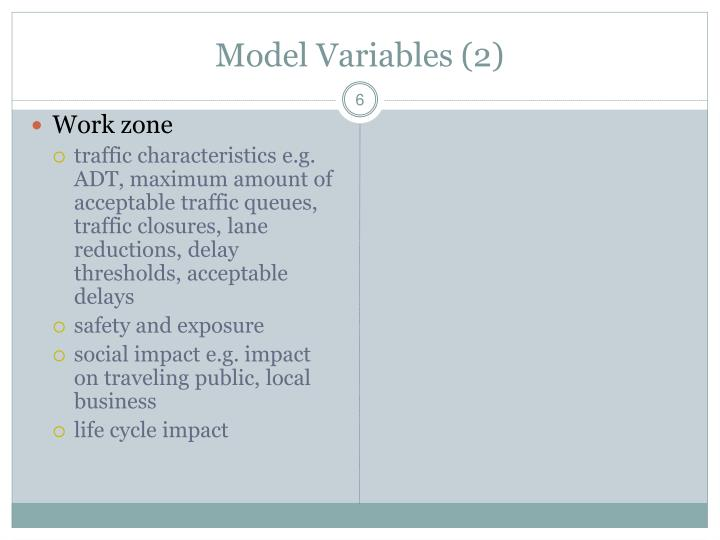 Model Variables (2)