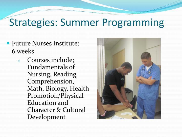 Strategies: Summer Programming