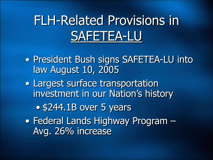 FLH-Related Provisions in