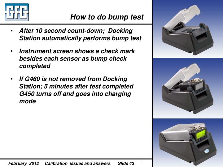How to do bump test