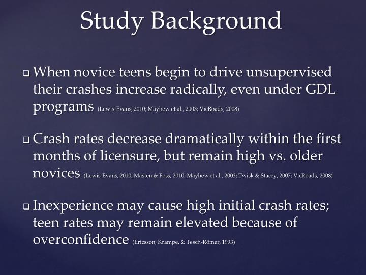 When novice teens begin to drive unsupervised their crashes increase radically, even under GDL programs