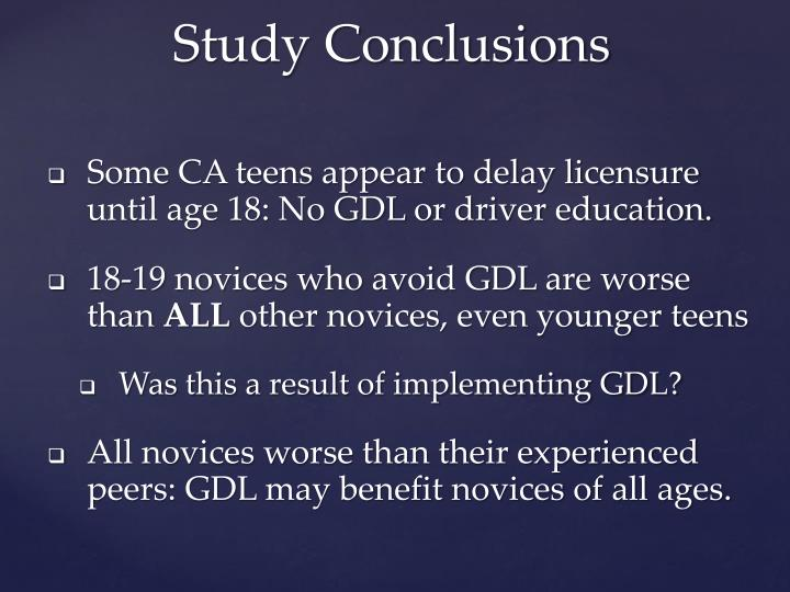 Some CA teens appear to delay licensure until age 18: No GDL or driver education.