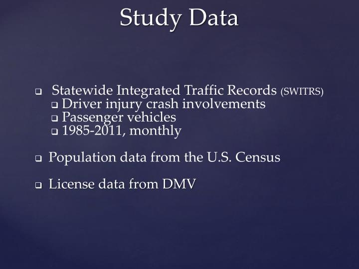 Statewide Integrated Traffic Records