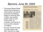 barrons june 20 2005