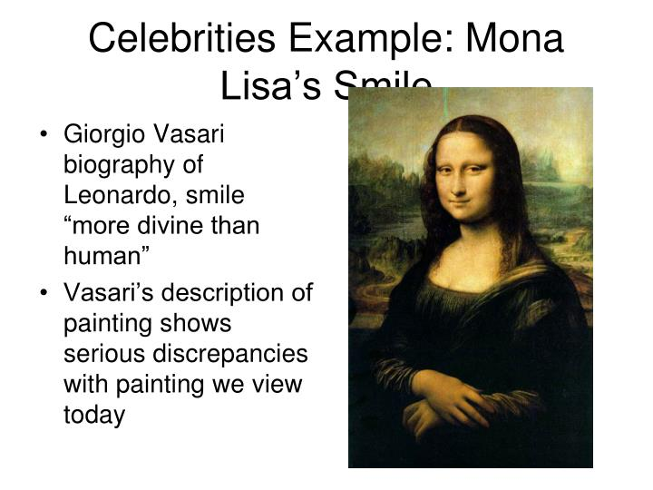 "Giorgio Vasari biography of Leonardo, smile ""more divine than human"""