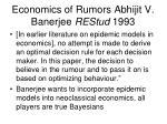 economics of rumors abhijit v banerjee restud 1993