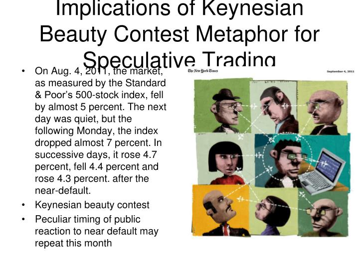 Implications of Keynesian Beauty Contest Metaphor for Speculative Trading