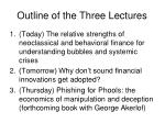 outline of the three lectures