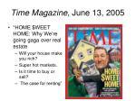 time magazine june 13 2005