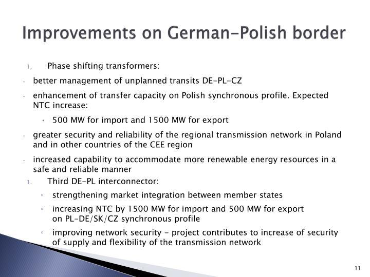 Improvements on German-Polish border