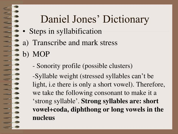 Daniel jones dictionary