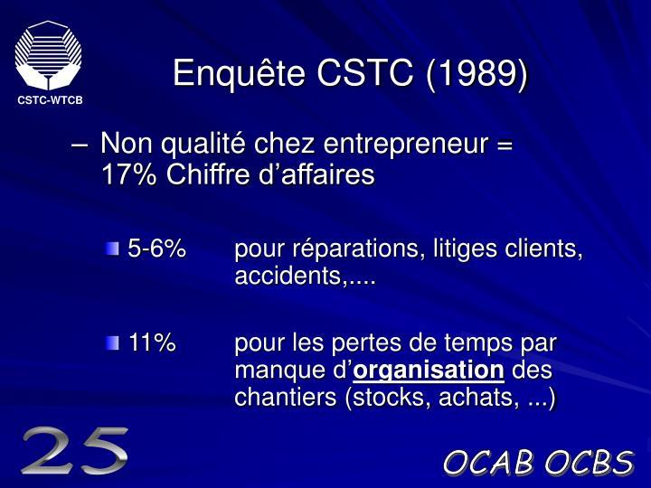 Enquête CSTC (1989)
