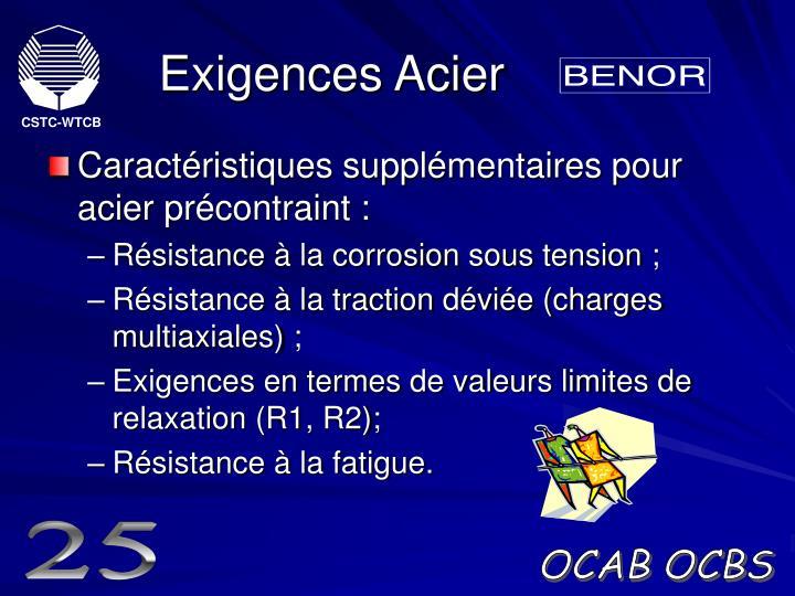 Exigences Acier